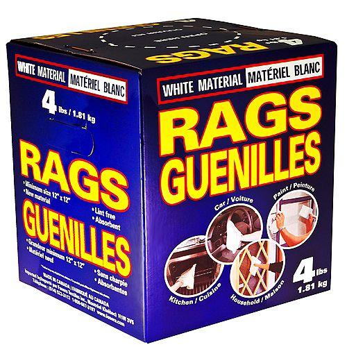 Shinex White Rags, 4 lbs.