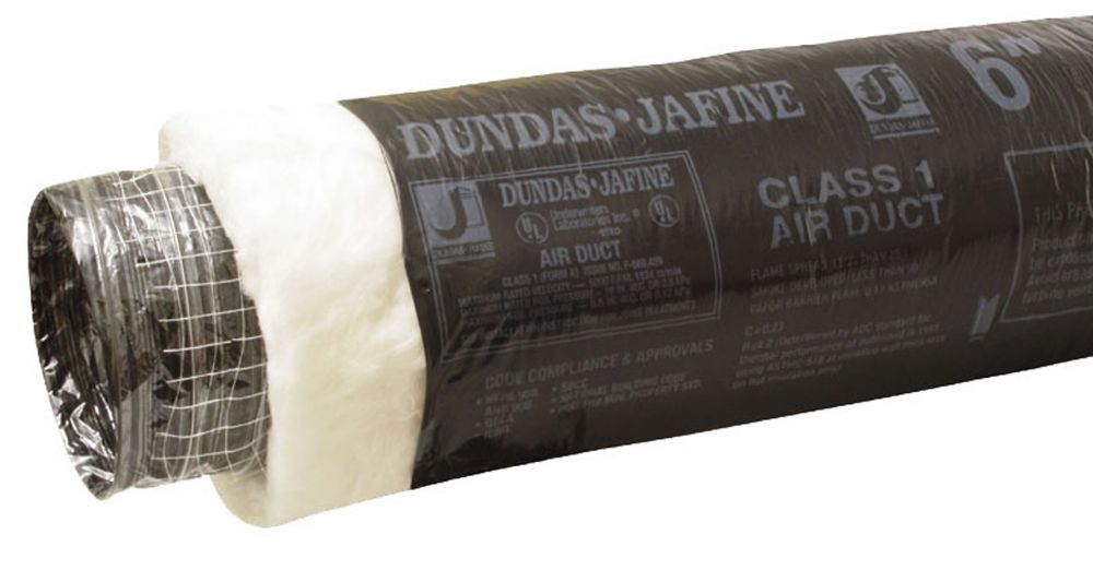 Dundas Jafine Flexible Insulated Ducting 4 inch X 25 foot
