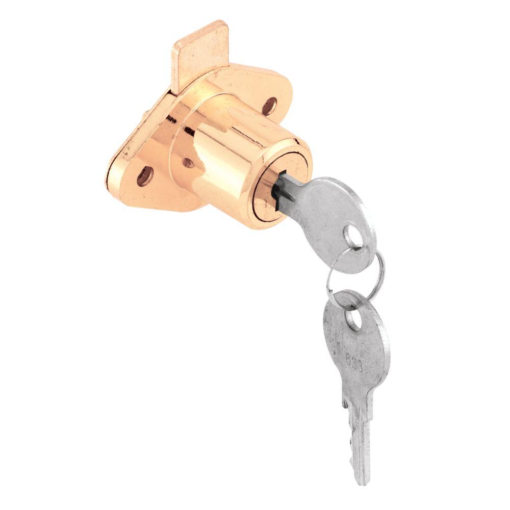 7/8-inch Brass Drawer Lock