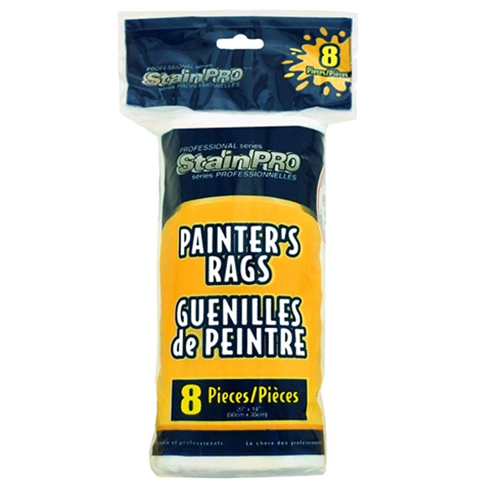 Painters White Rags (8pces)