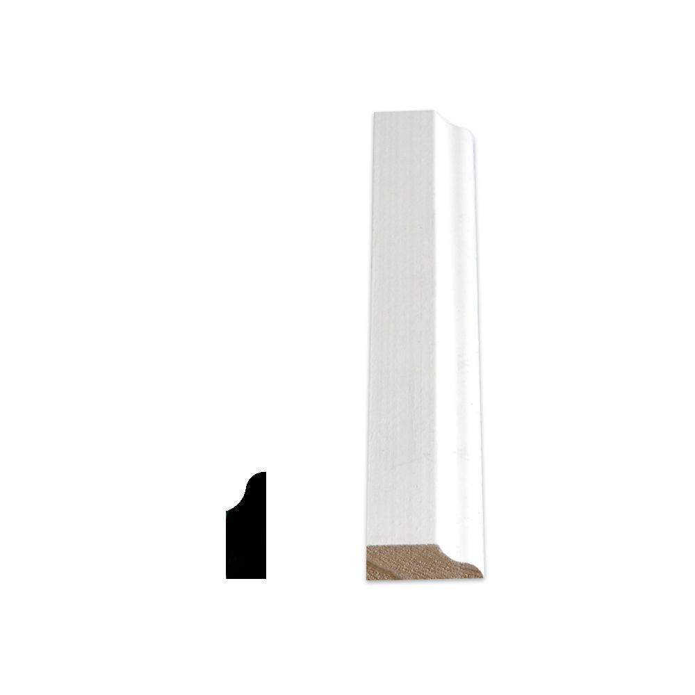 Primed Finger Jointed Pine Colonial Door Stop 7/16 Inches x 1-3/16 Inches x 7 Feet