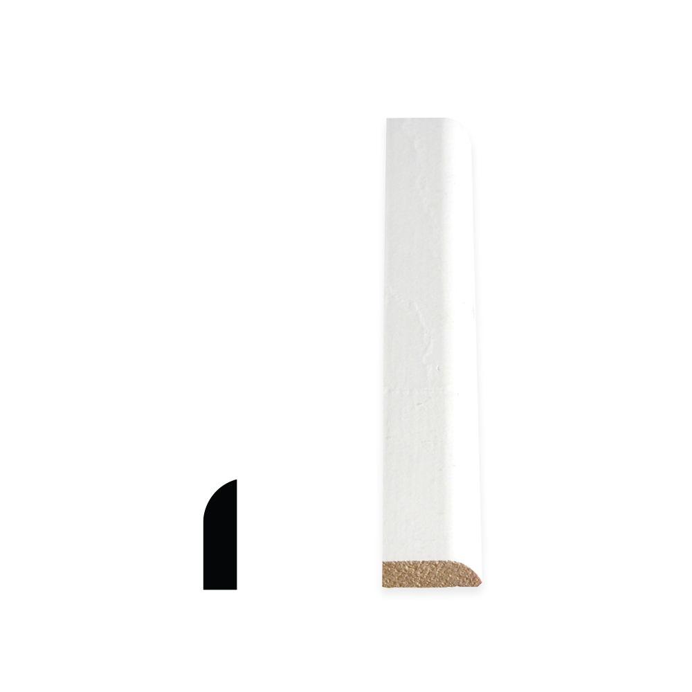 Heurtoir de porte colonial apprêté et jointé, en pin  - 5/16 x 1 1/16