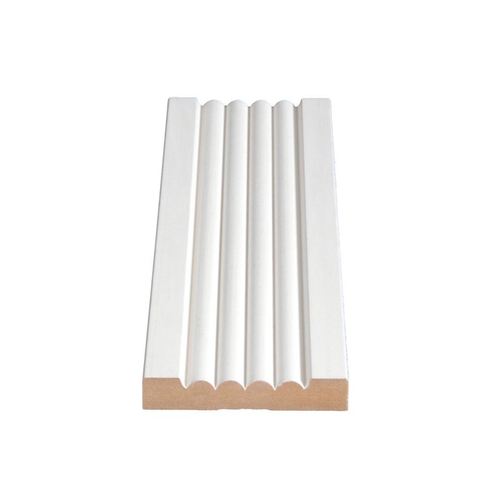 Primed Fibreboard Casing 5/8 In. x 3-5/16 In. (Price per linear foot)