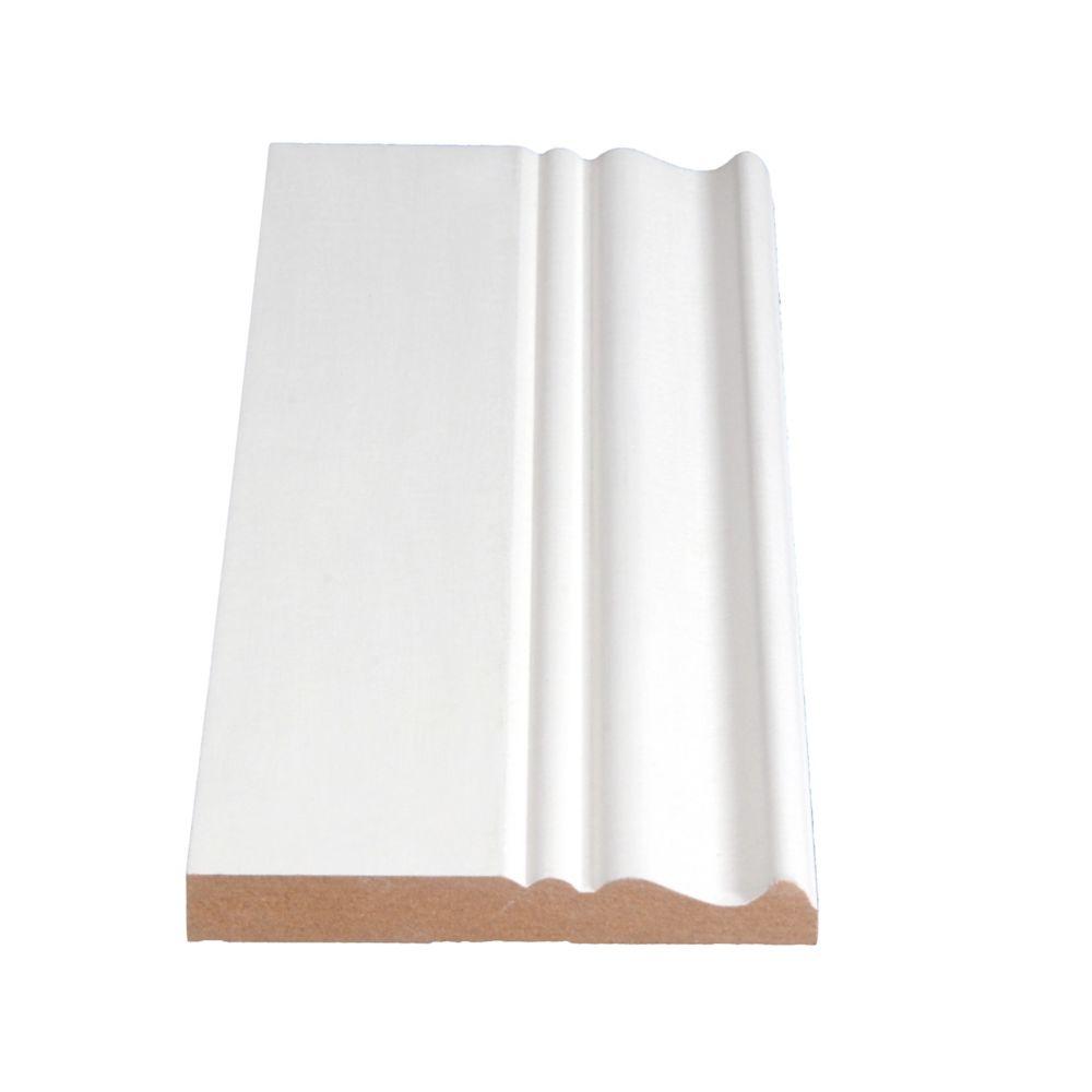 Primed Fibreboard Base 1/2 In. x 3-7/8 In. (Price per linear foot)