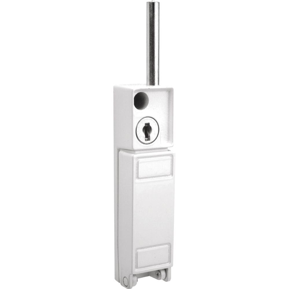 White Keyed Patio Door Bolt Lock