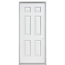 Veranda 32-inch x 4 9/16-inch Primary 6-Panel Left Hand Door - ENERGY STAR®