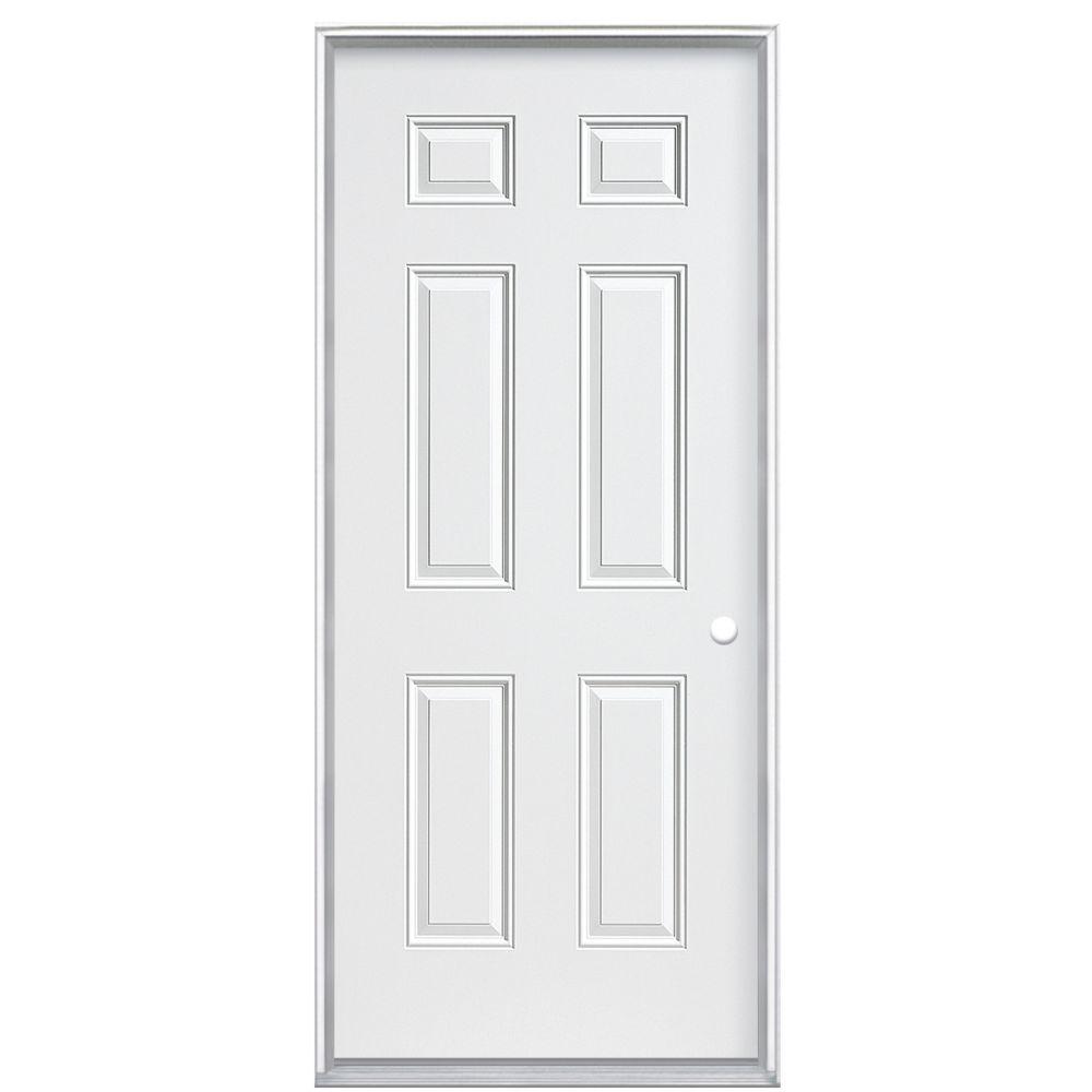 32 Po X 4-9/16 Po, 6 Panneaux  Primaire Ouvrant Intérieur Main Gauche