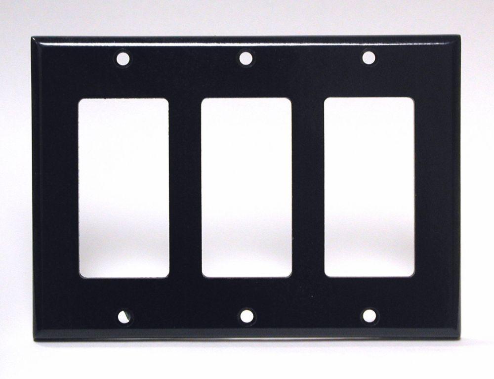 Plaque Decora, Trois Dispositifs, Noir