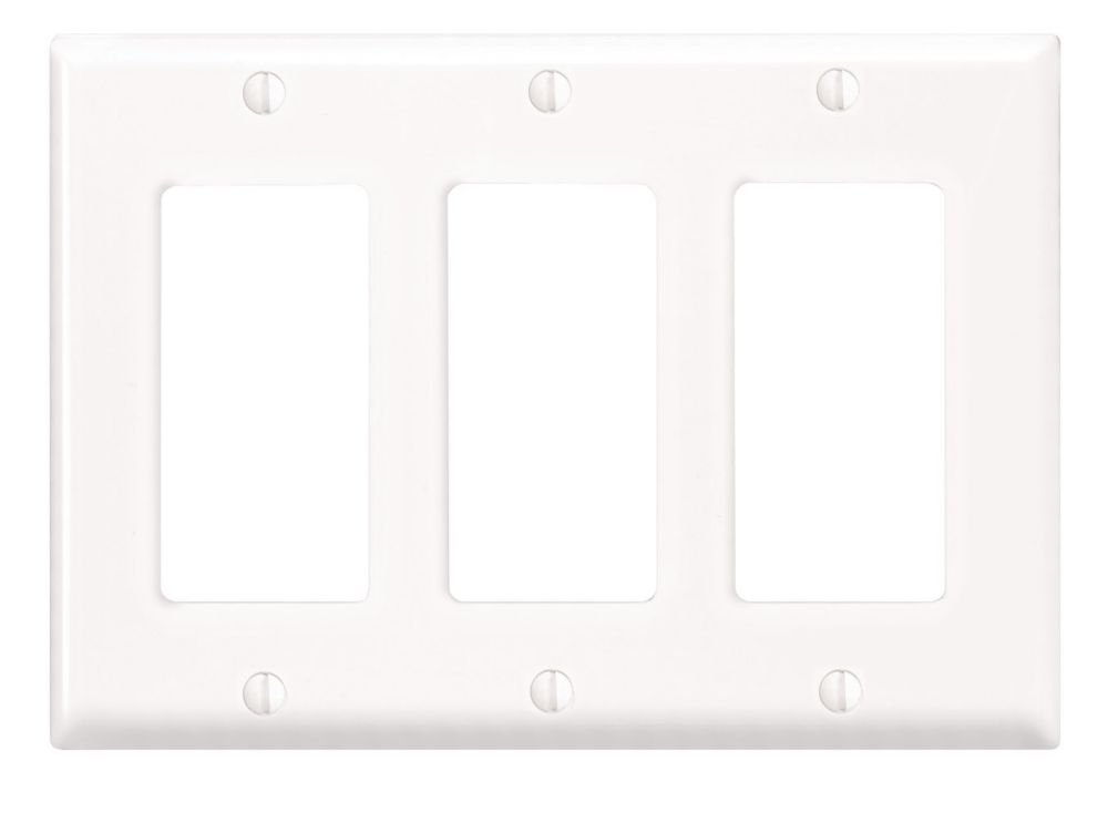Decora Wallplate 3 Gang, White