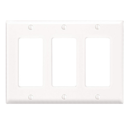 Decora wall plate 3 Gang, White