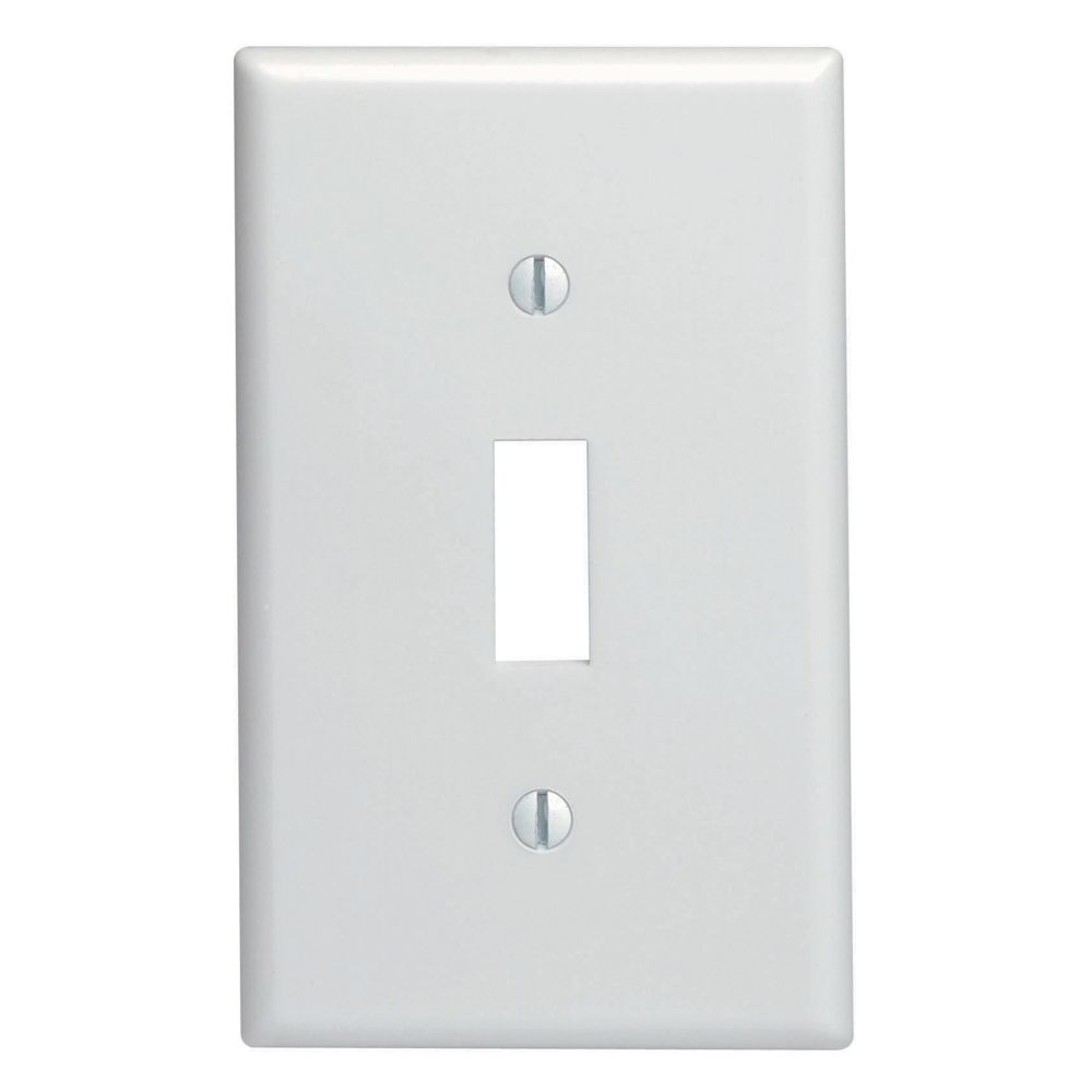 Toggle Single Gang Wallplate , White