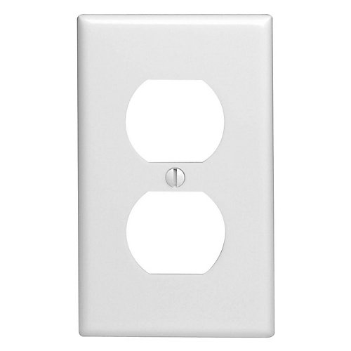 Wall Plate 1 Gang Duplex, White