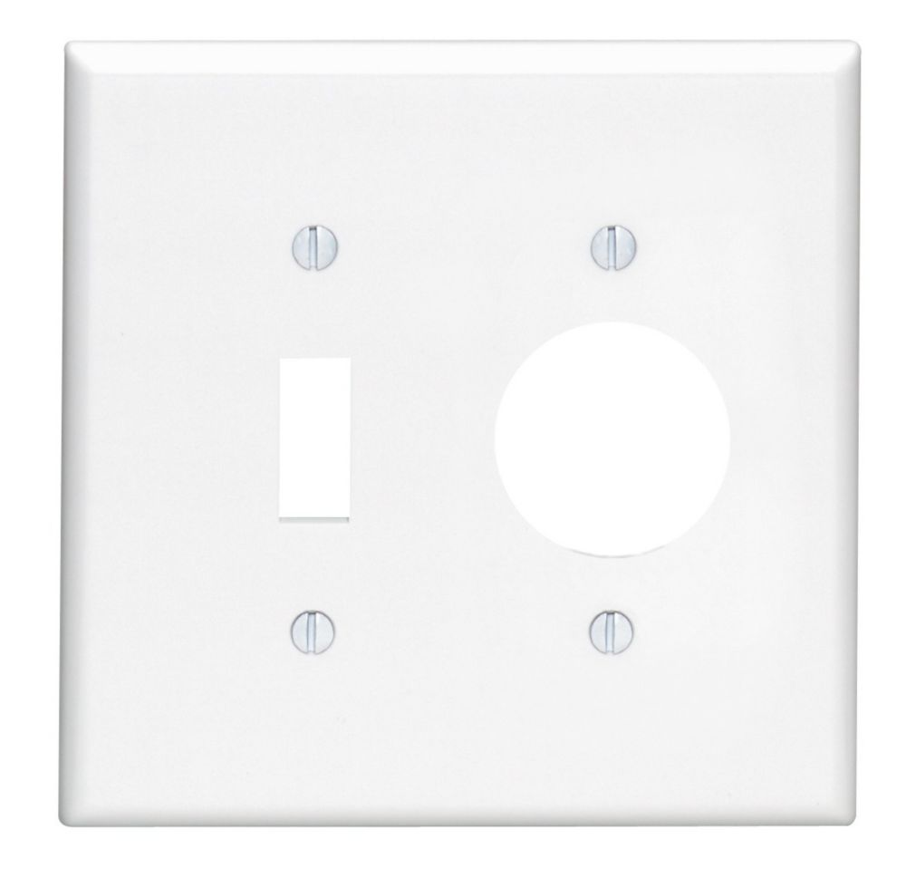 2 Gang Thermoset Plate 1 Toggle 1 SGL, White