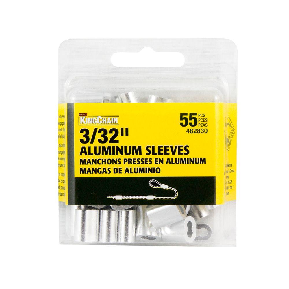 3/32 In. Aluminum Sleeves Bulk Pack