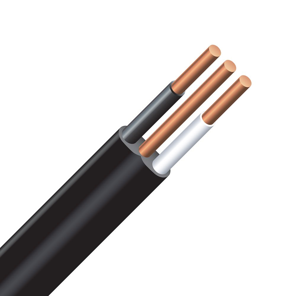 Electrical wires cables accessories the home depot canada underground electrical cable copper electrical wire gauge 122 nmwu 122 black greentooth Image collections
