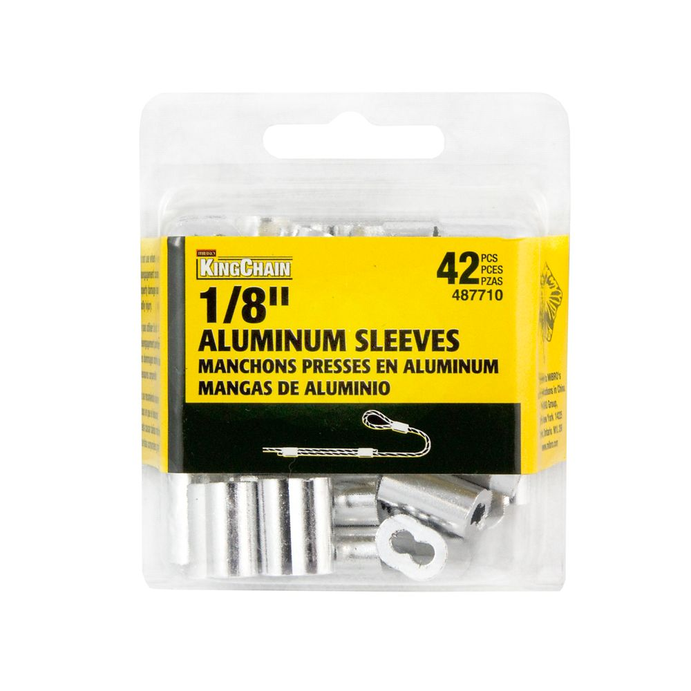 1/8 In. Aluminum Sleeves Bulk Pack