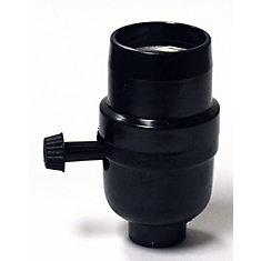 Socket Turnknob, Black