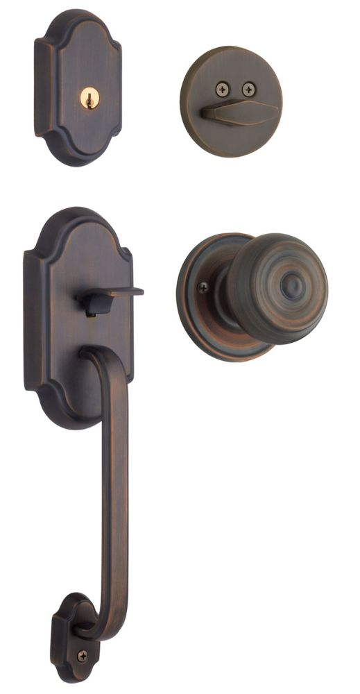 Columbia Venetian Bronze Handle Set with Phoenix Interior Knob