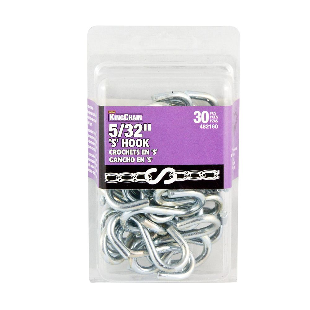 5/32 inches S-Hook Bulk Pack