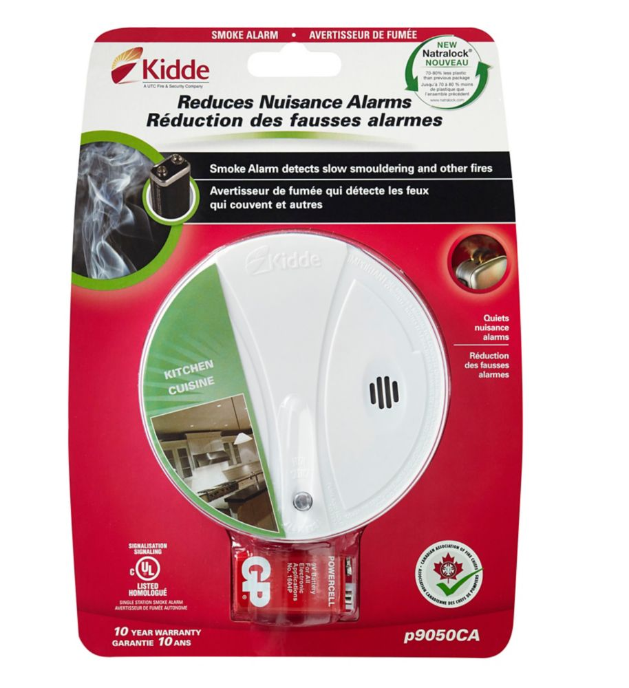 kidde battery operated photoelectric smoke alarm the home depot canada. Black Bedroom Furniture Sets. Home Design Ideas