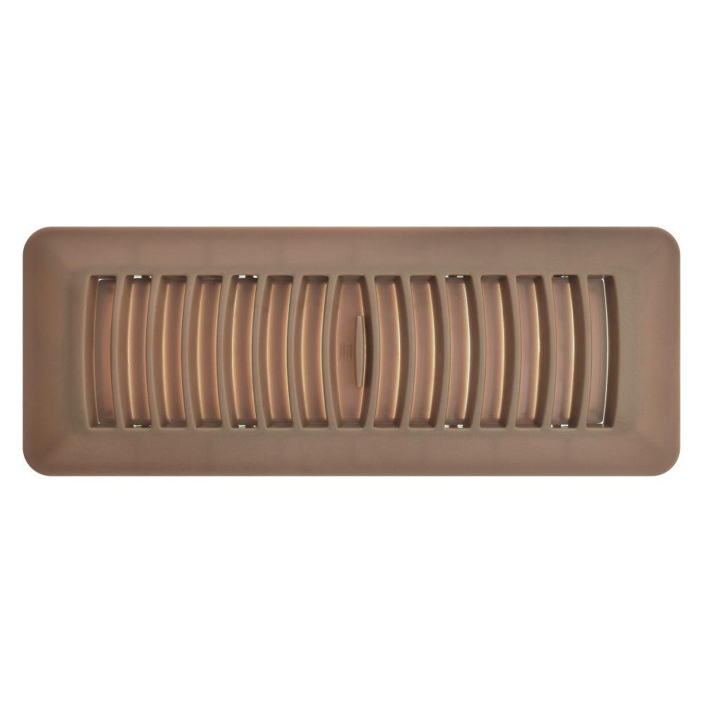 3 Inch x 10 inch Mahogany Plastic Floor Register