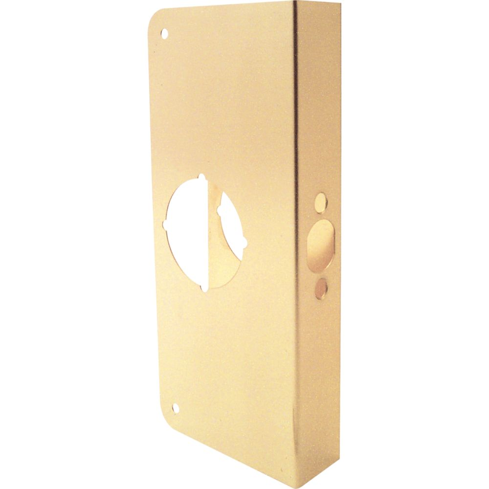 9 In. Brass Door Reinforcer
