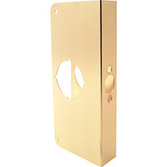 9-inch Brass Door Reinforcer