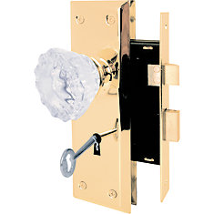 Mortise Lock with Glass Knobs