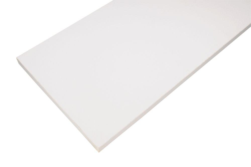 8 Inch x 36 Inch White Essentials Shelf