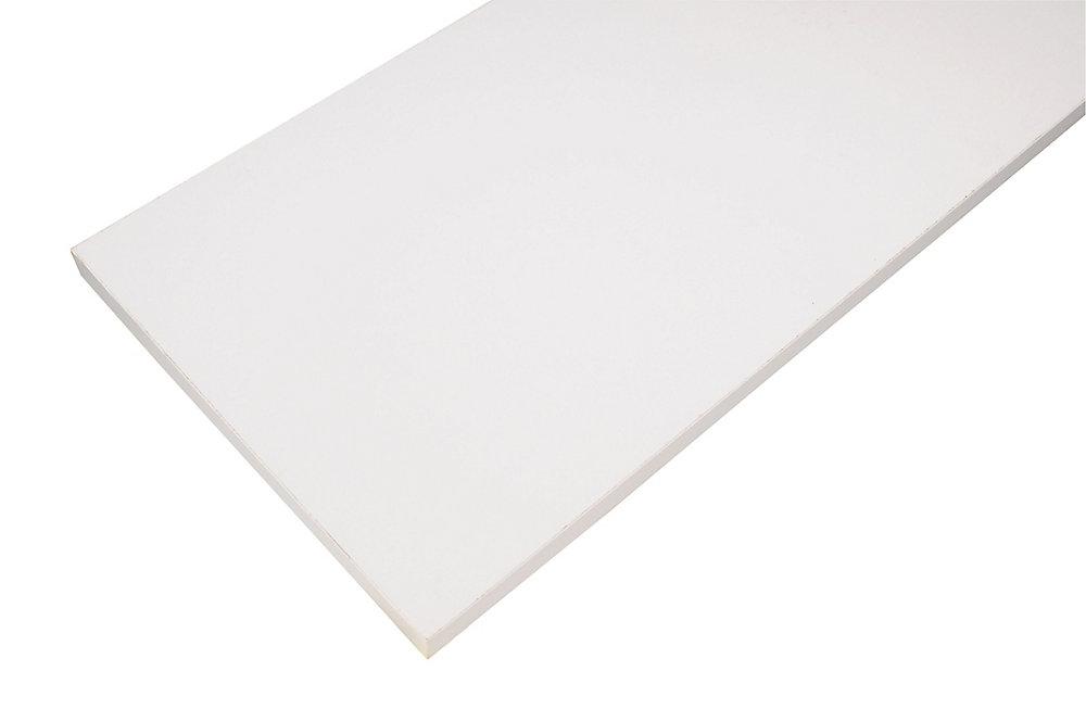 Essentials 10-inch x 36-inch Wood Shelf in White