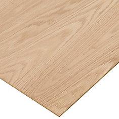 1/4-inch. x 4 Feet. x 8 Feet. Purebond Red Oak