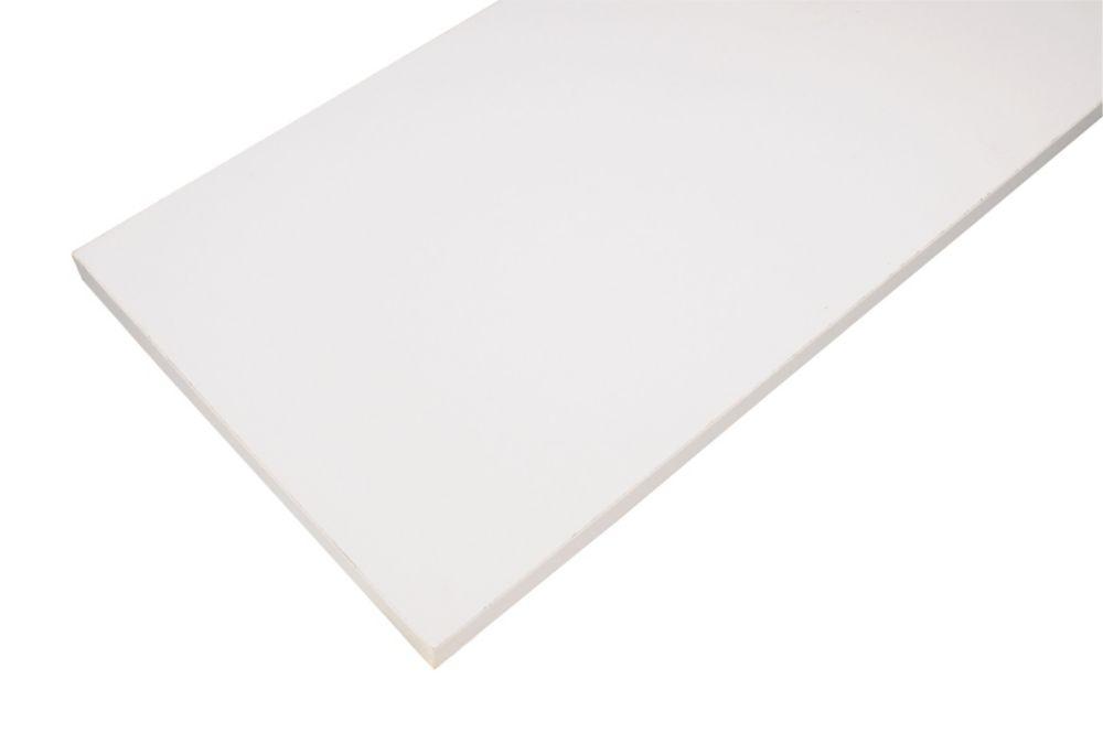 12 Inch X 48 Inch White Essentials Shelf