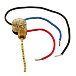Atron 3 Way Fan Switch with Pull - 3 wire