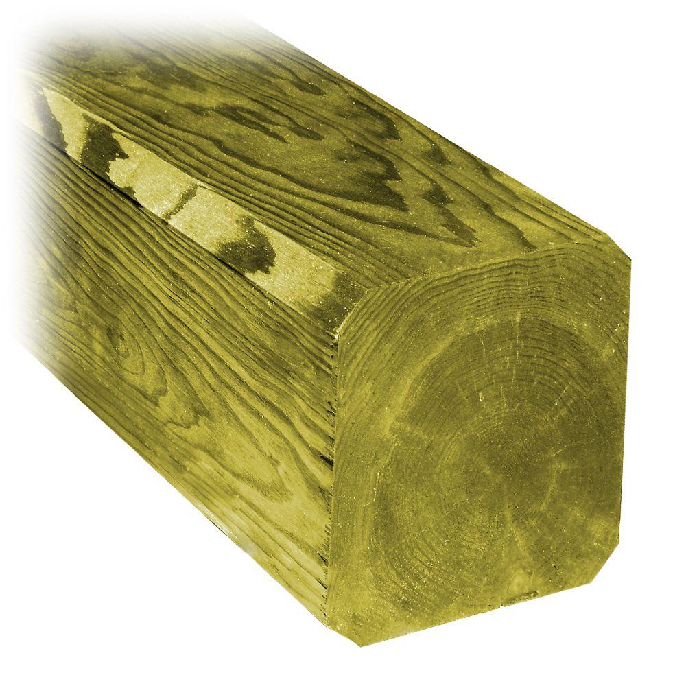 6x6x10 Chamfered Treated Wood