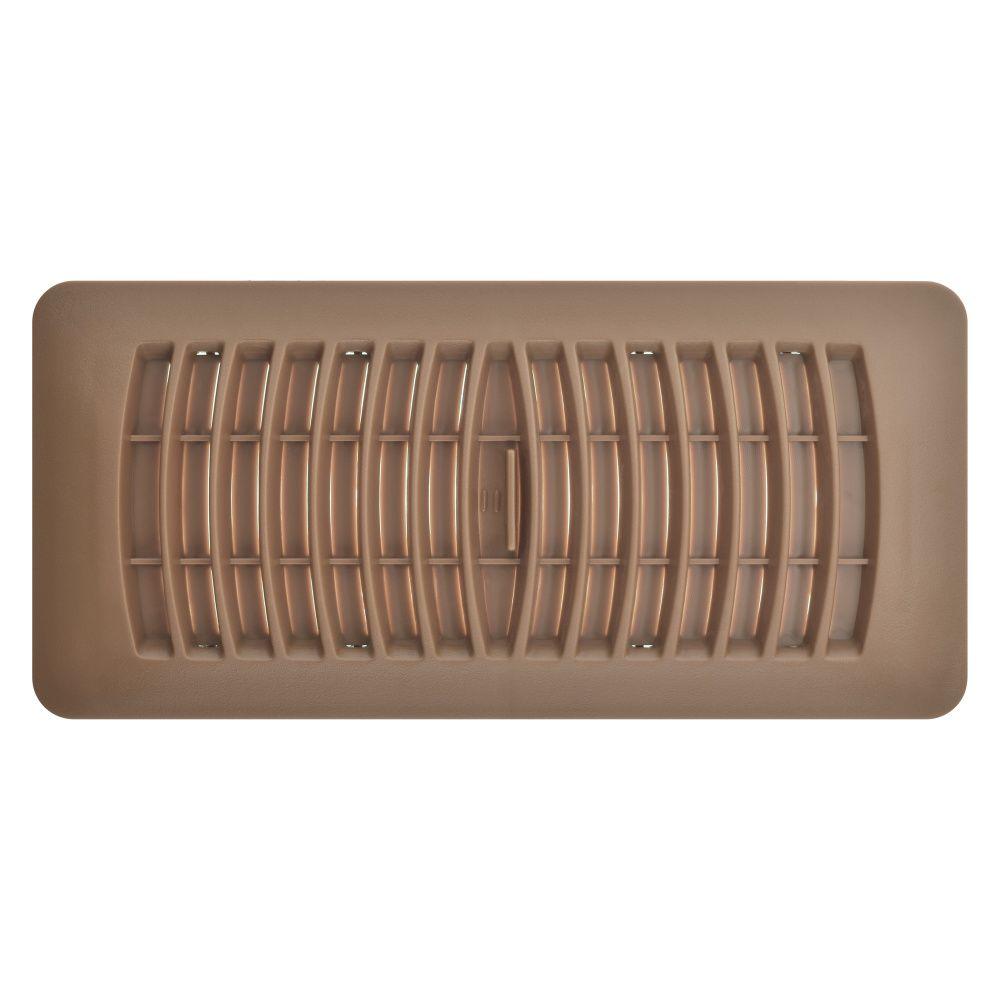 4 Inch x 10 inch Mahogany Plastic Floor Register