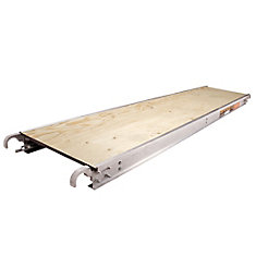 7 ft. x 19-inch Aluminum Scaffold Platform with Plywood Deck