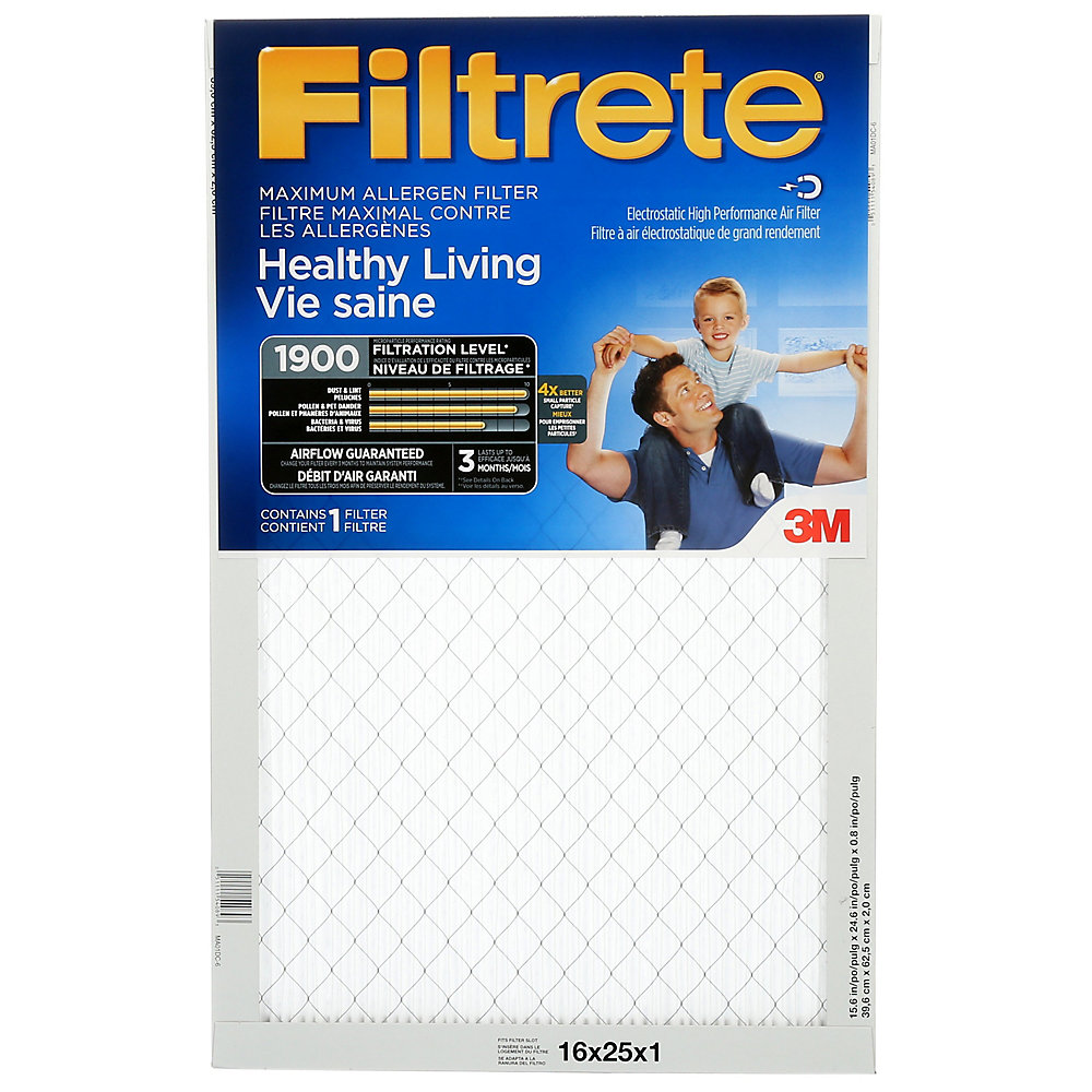 Filtrete Filters 16 Inch X 25 Inch X 1 Inch Healthy Living