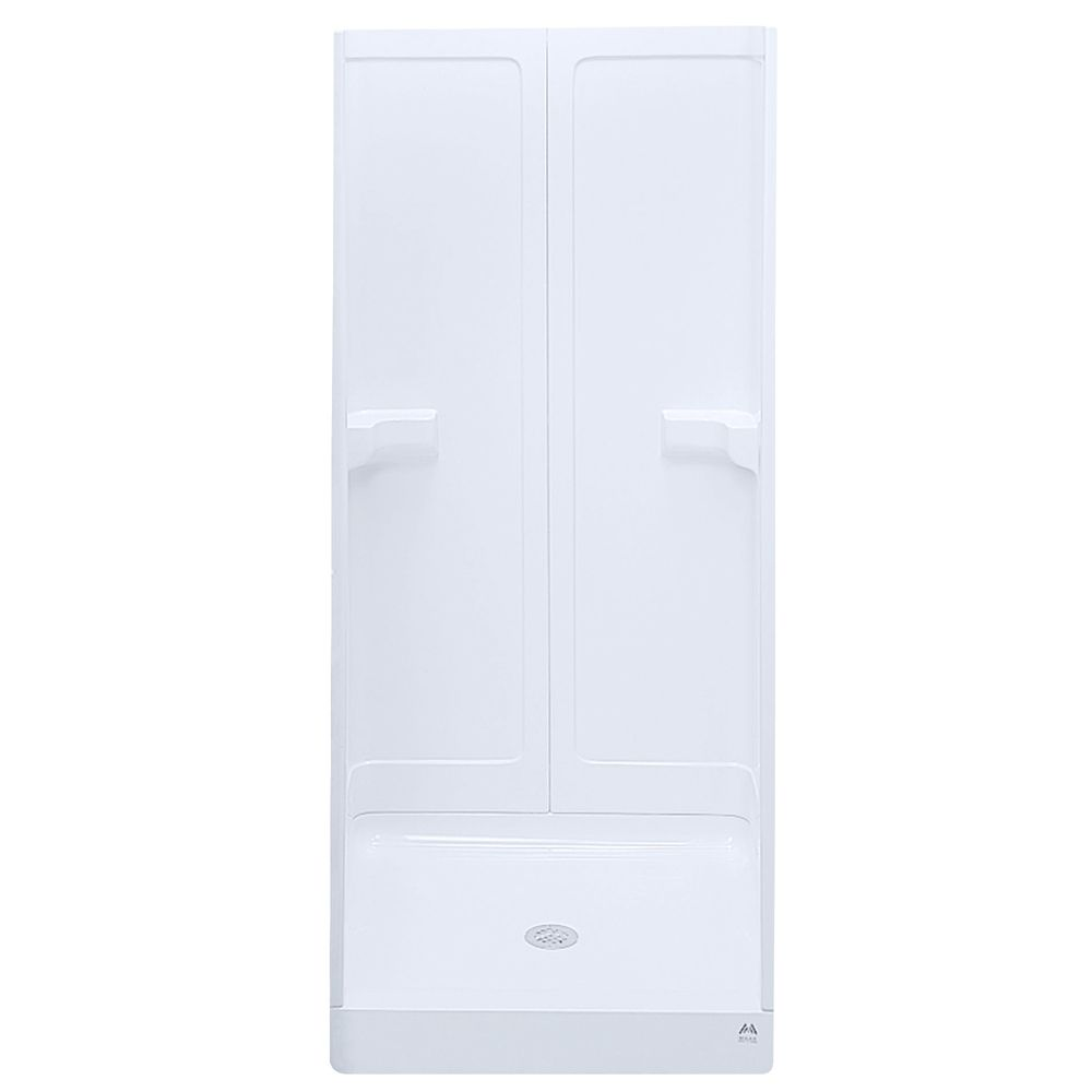 Gilmour 36-Inch  3-Piece Fibreglass Shower Stall in White