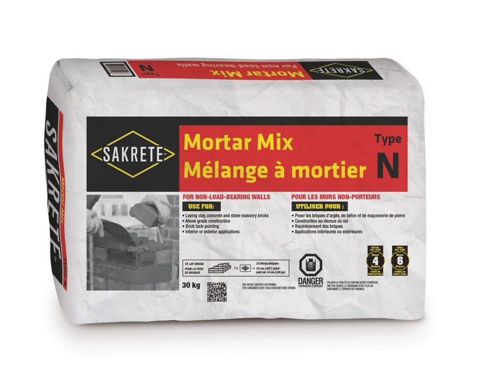 SAKRETE Mortar Mix, Type N, 30 KG