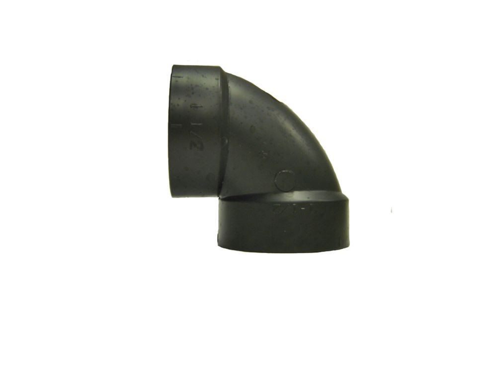 "ABS DWV 1 1/2"" Short Radius 90° 10/Bag Prpk"