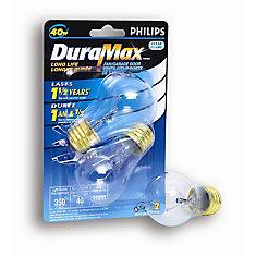 40W Fan/Garage Door Clear Bulb (2-Pack)