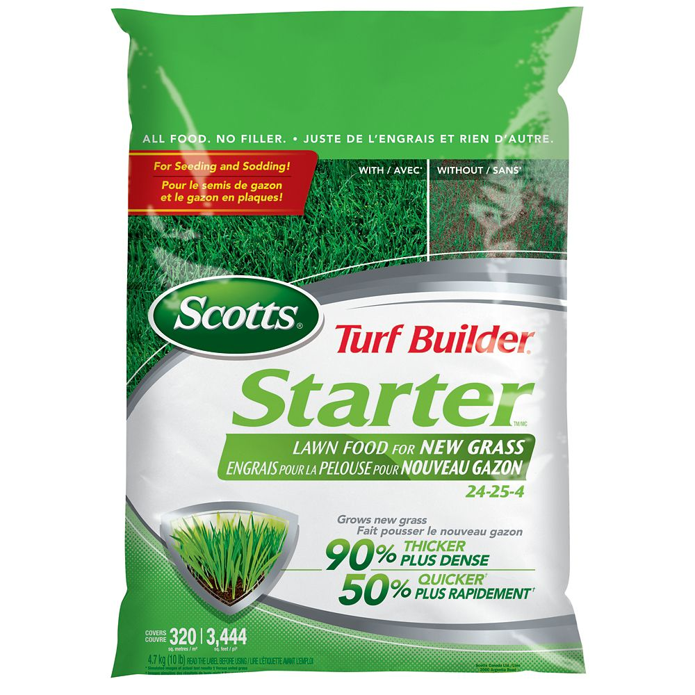 Engrais de démarrage Scotts Turf Builder 24-24-4