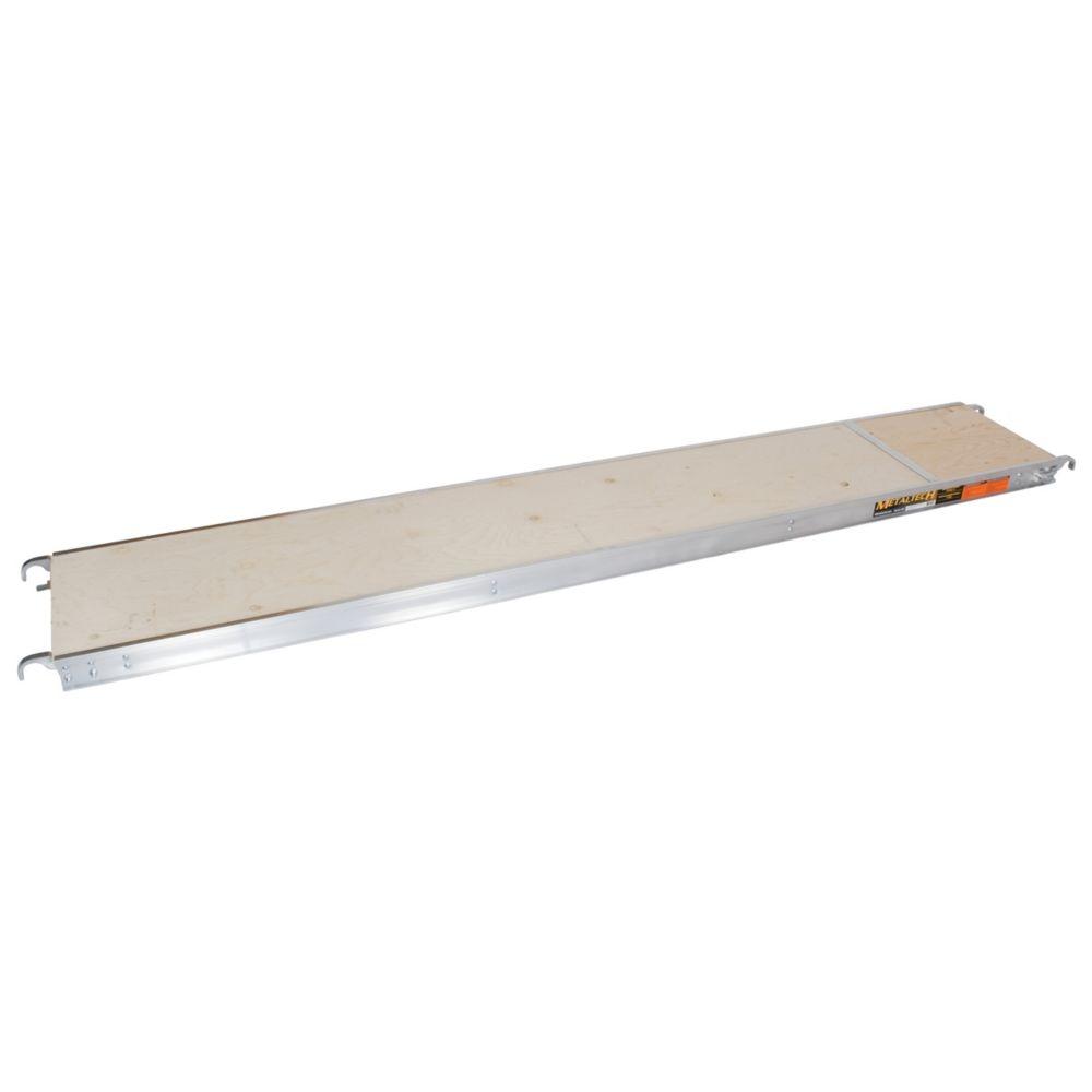 Metaltech Plate-forme d'Échafaudage en Aluminium avec plache de contreplaqué / 10 Pieds
