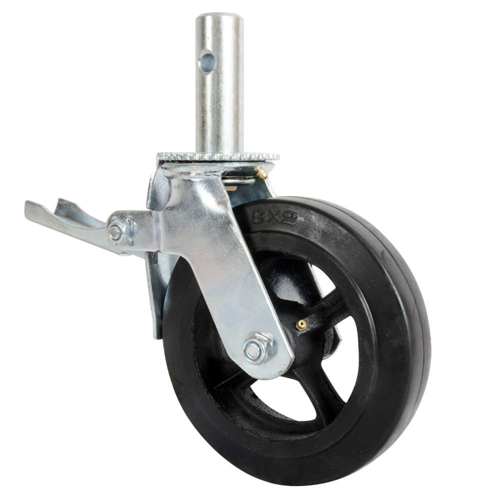 Metaltech 8 Inch Scaffold Caster Wheel / Contractor Series