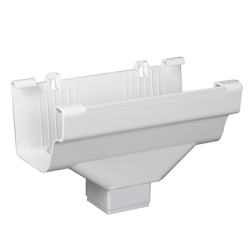 Euramax Canada Drop Outlets Traditional White Vinyl