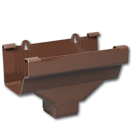 Euramax Canada Drop Outlet Traditional Brown Vinyl