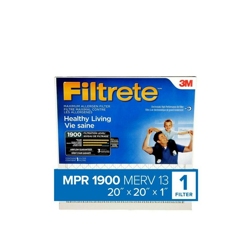 3M Filtrete 20x20 Filtre Ultime contre les allergènes