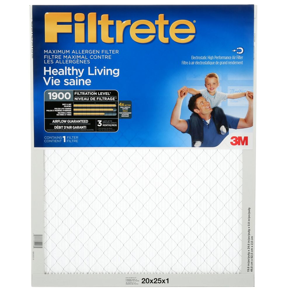 3M Filtrete 20x25 Ultimate Allergen Reduction Filter