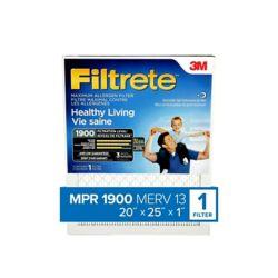 Filtrete Filters 20-inch x 25-inch x 1-inch Healthy Living MPR 1900 Maximum Allergen Filtrete Furnace Filter