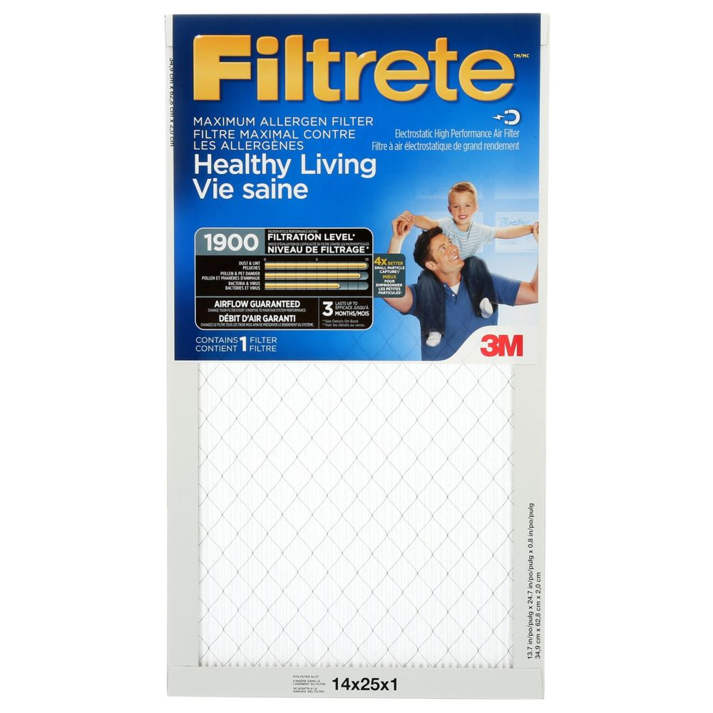 Filtrete Filters 14-inch x 25-inch x 1-inch Healthy
